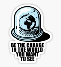World Snow Globe - Gandhi Philosophy Sticker