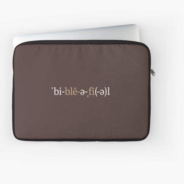 Bibliophile Phonetic Notation (Chocolate Edition) Laptop Sleeve