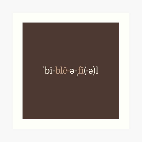 Bibliophile Phonetic Notation (Chocolate Edition) Art Print
