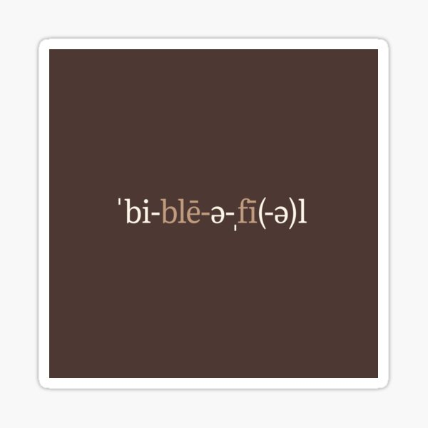 Bibliophile Phonetic Notation (Chocolate Edition) Sticker