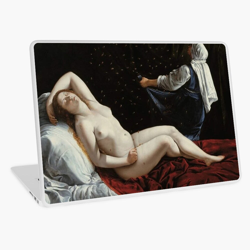#Danaya, Artemisia Gentileschi, #Painting, 1612, 41×51 cm, artwork, #Nude, #Mythological Scene, Baroque, Oil, Copper, The St. Louis art Museum, St. Louis Laptop Skin