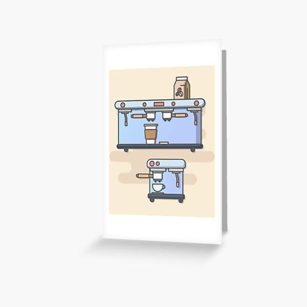 Coffee Machine Greeting Card