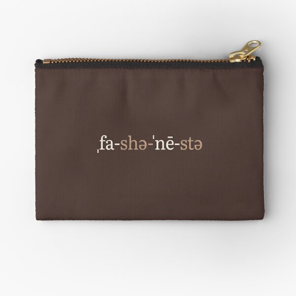 Fashionista Phonetic Notation (Chocolate Edition) Zipper Pouch