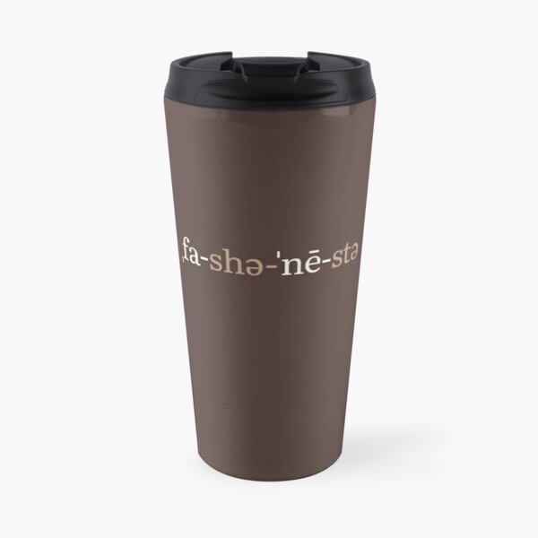 Fashionista Phonetic Notation (Chocolate Edition) Travel Mug