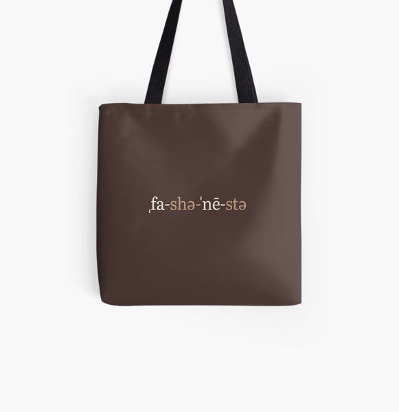 Fashionista Phonetic Notation (Chocolate Edition) All Over Print Tote Bag