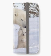 Mother polar bear & her two cubs iPhone Wallet/Case/Skin