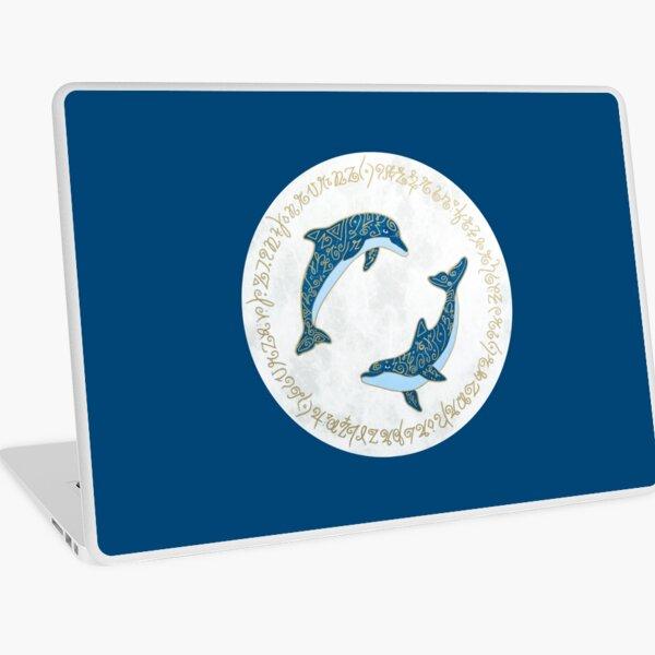 Dolphins Light Language Laptop Skin