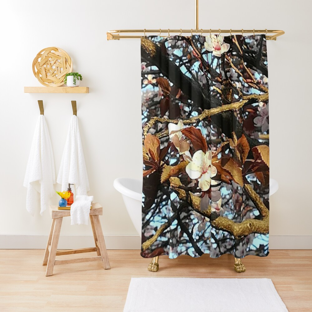 The Spring gives you happiness  Shower Curtain
