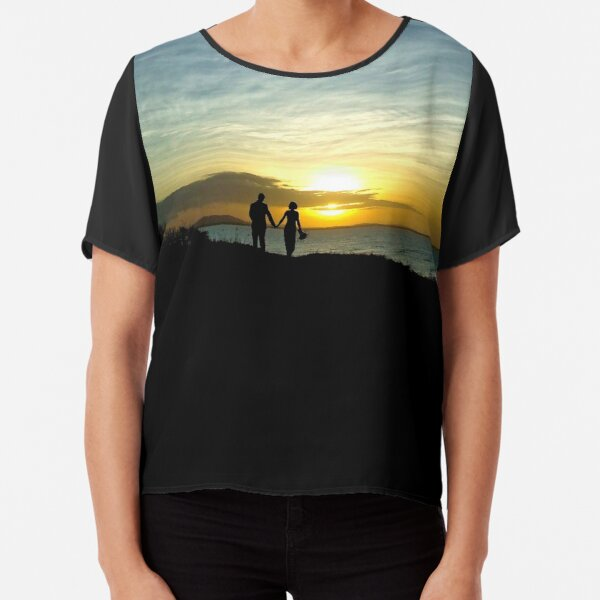 Hand in Hand into the Sunset Chiffon Top