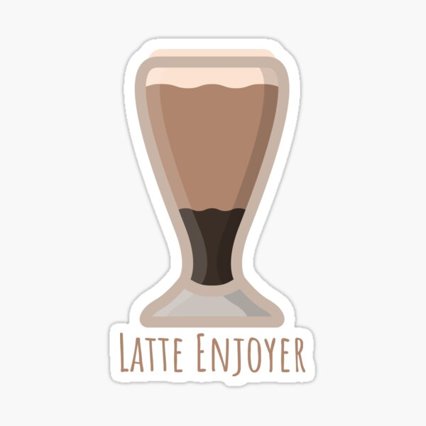 Latte Enjoyer Sticker