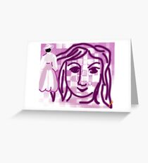 Happy Imagination face Greeting Card