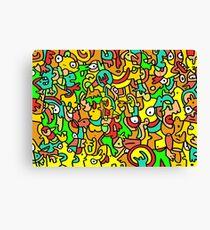"""""""BOINGO"""" animal doodle colour cartoon Canvas Print"""
