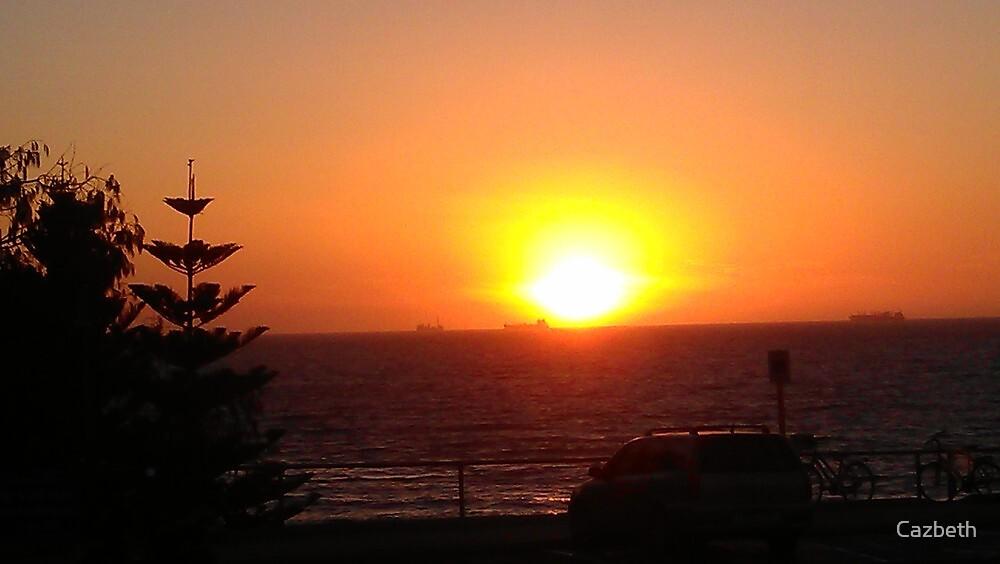 Cottesloe Beach at sunset...Western Australia. by Cazbeth