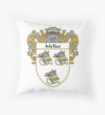McKee Coat of Arms/Family Crest Throw Pillow