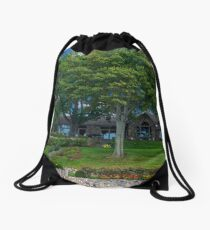 A Beautiful Home from a Boat on the Lake Drawstring Bag