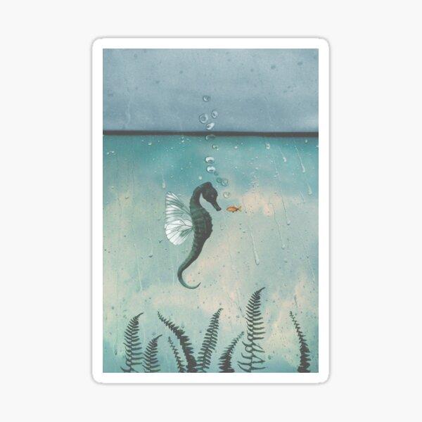 Playful seahorses Sticker