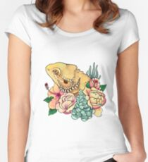 Pastel Bearded Dragon Women's Fitted Scoop T-Shirt
