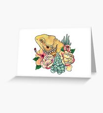 Pastel Bearded Dragon Greeting Card