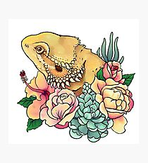 Pastel Bearded Dragon Photographic Print