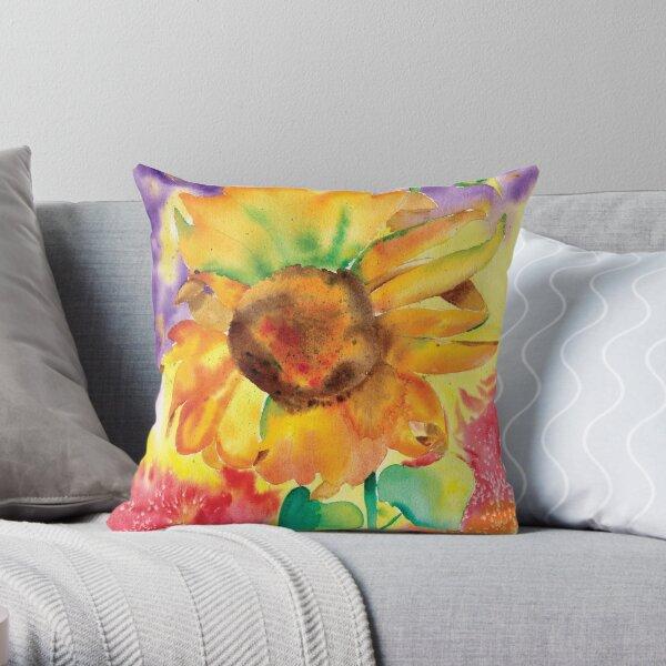 Sunflower Splash Throw Pillow