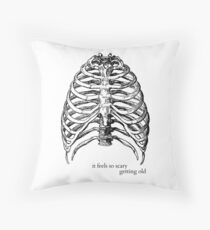 Getting Old (Lorde Ribs) Throw Pillow