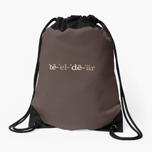 TL;DR Phonetic Notation (Chocolate Edition) Drawstring Bag