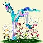 Unicorn and the Pesky butterflies by LoneAngel