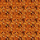 Golden Copper Tiles Pattern by pjwuebker