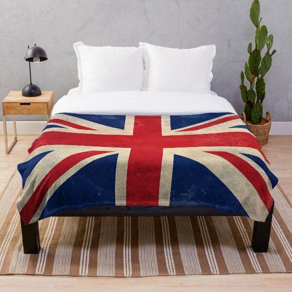 Union Jack Throw Blanket - Warm Winter Blanket with UK Flag Throw Blanket