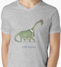 Papasaurus Men's V-Neck T-Shirt
