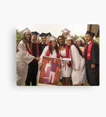 Kahuku Girls Posing with Poster Canvas Print