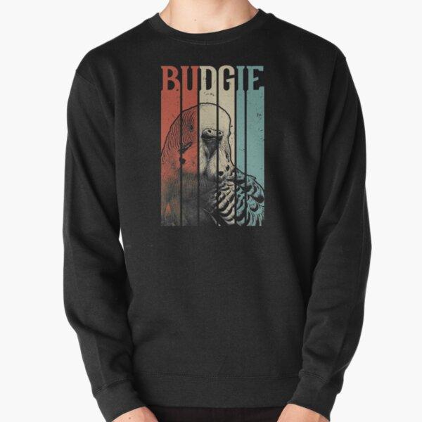 Retro Vintage Budgie Pullover Sweatshirt