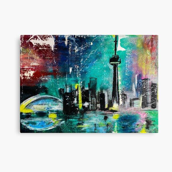"Toronto ""Colour Me 6ix"" Abstract Painting Canvas Print"