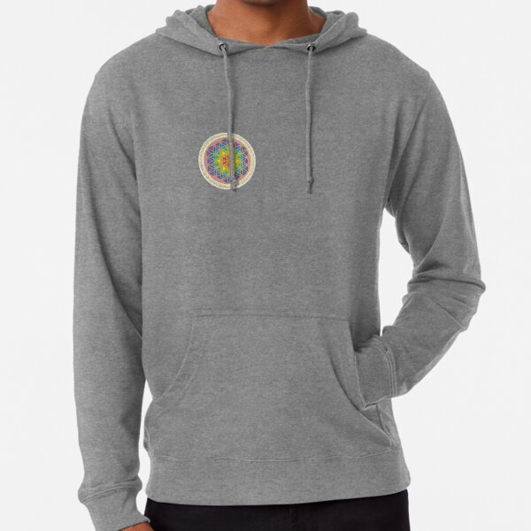 Flower of Life Light Codes Lightweight Hoodie