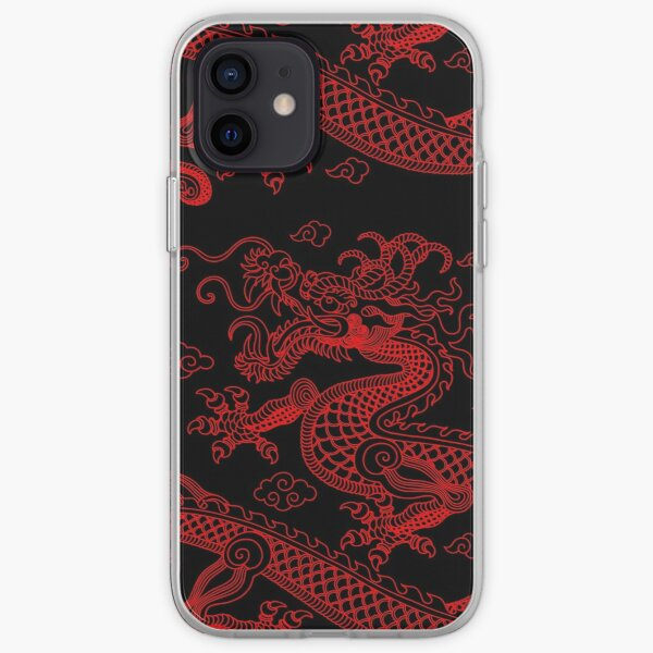 Chinese Red Dragon iPhone Soft Case