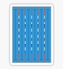 Schwimmbecken Sticker