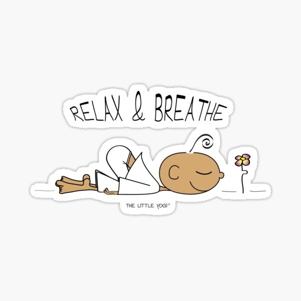 Relax and Breathe Sticker