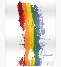 Pride Parade Rainbow Diversity by RD RIccoboni Poster