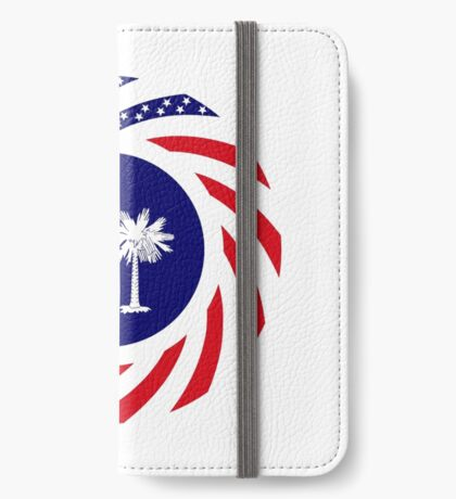 South Carolina Murican Patriot Flag Series iPhone Wallet