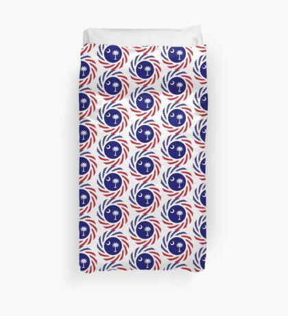 South Carolina Murican Patriot Flag Series Duvet Cover