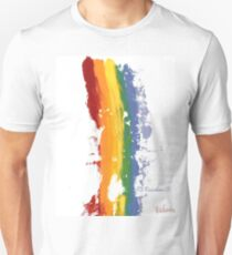 Pride Parade Rainbow Diversity by RD RIccoboni T-Shirt