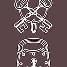 Vintage Skeleton Keys & Lock by Zehda