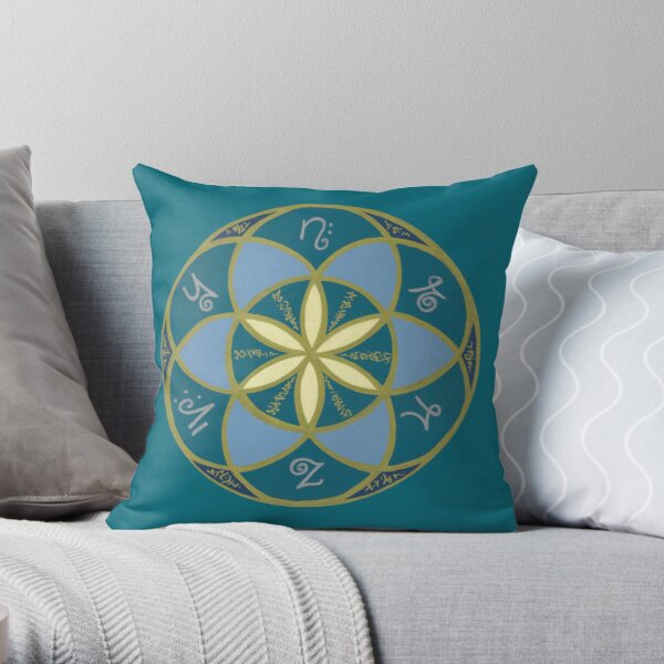 Seed of Life - Starseed Light Language Throw Pillow