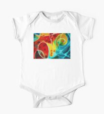 Pure Joy 1 - Abstract Art By Sharon Cummings One Piece - Short Sleeve