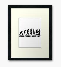 Evolution graphic artist Framed Print