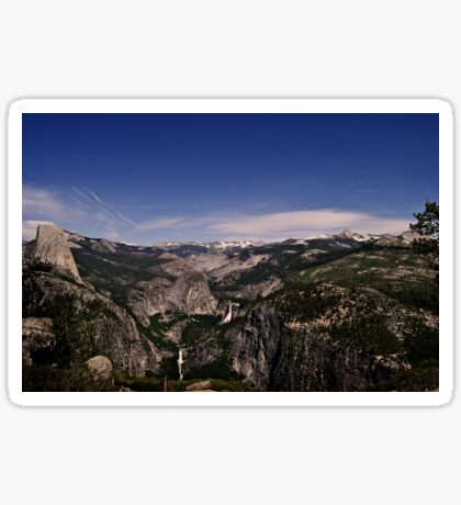 Half Dome, Vernal and Nevada Falls, Yosemite National Park Sticker