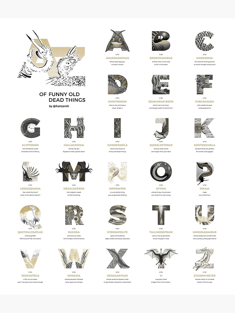 A-Z of Funny Old Dead Things by franzanth