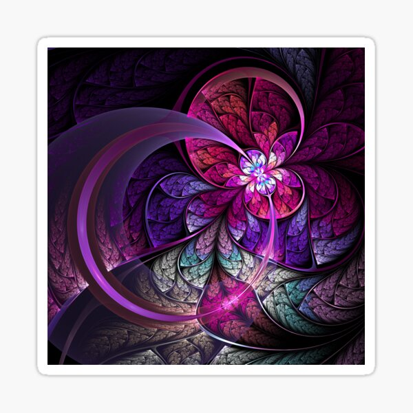 Fly - Abstract Fractal Artwork Sticker