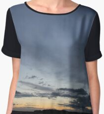 Clear Blue Sunset Chiffon Top