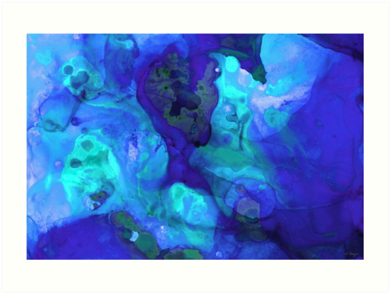 Violet Blue - Abstract Art By Sharon Cummings by Sharon Cummings